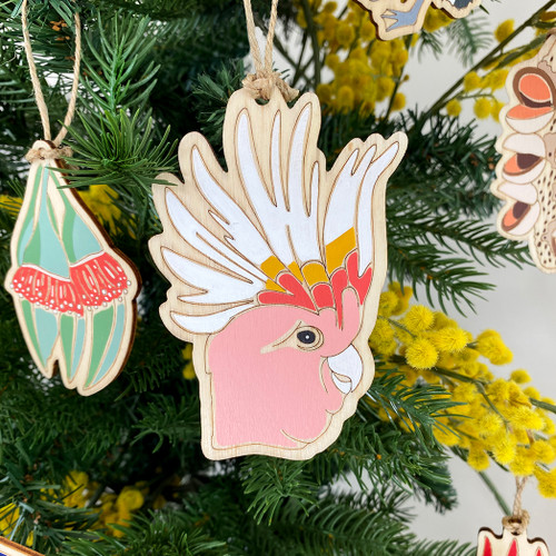 Pink Cockatoo Ornament by Outer Island