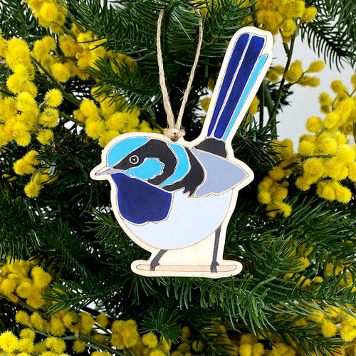 Superb Fairy-Wren Ornament by Outer Island
