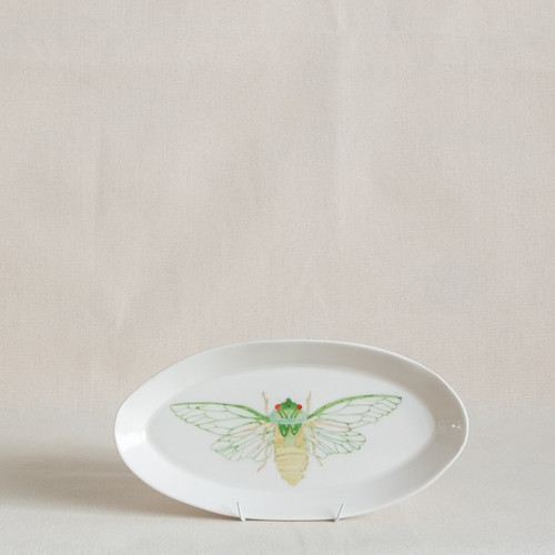 Green Grocer Cicada Small Platter by Casa Adams Fine Wares - CAA.020