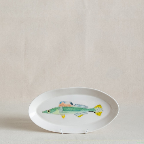 Sharp-nosed Weed Whiting Small Platter by Casa Adams Fine Wares - CAA.018
