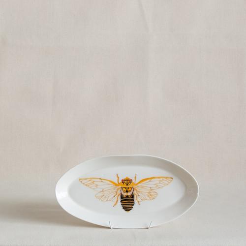 Masked Devil Cicada Small Platter by Casa Adams Fine Wares - CAA.019