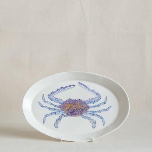 Blue Swimmer Medium Platter by Casa Adams Fine Wares - CAA.009