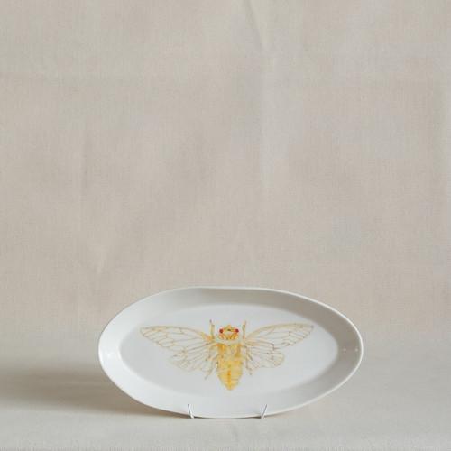 Yellow Monday Cicada Small Platter by Casa Adams Fine Wares - CAA.021