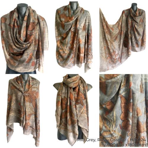 Silk Wool Shawl by Yaja Hadrys - HAY.124 - HAY.128