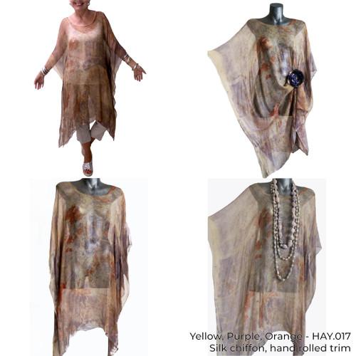Sheer Silk Long Tunic by Yaja Hadrys - HAY.016 - HAY.024
