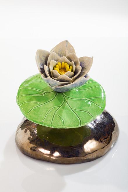 Blue Lotus Pad by Lisa Hoelzl - HOL.011