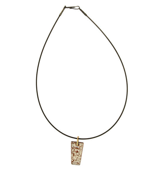 Niobium Cable with Mokume-gane Pendant Neckpiece by Michael Hofmeyer - HOM.032