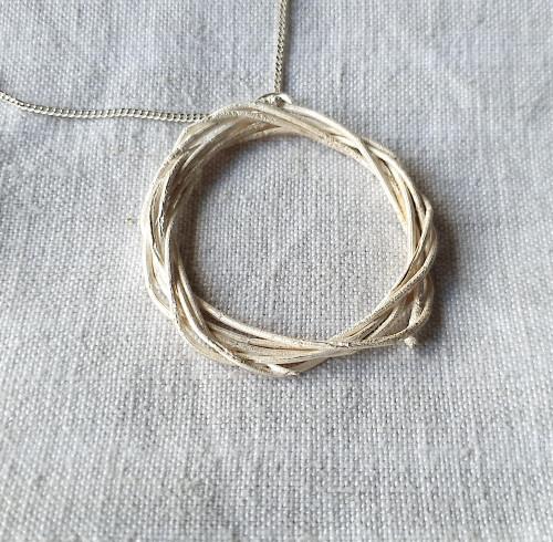 Sheoak Pendant Silver  by Anja Jagsch - JAA.021