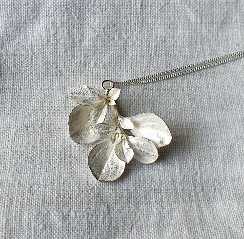 Botanical Necklace Galenia Weed Silver by Anja Jagsch - JAA.019