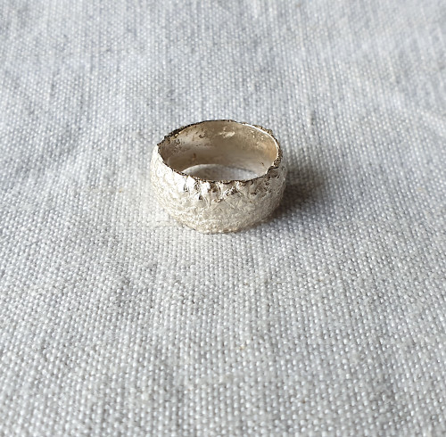 Botanical Ring Acorn Silver Size 6 by Anja Jagsch - JAA.026