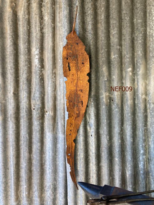 Weathering Waxed Steel Gum Leaf (980mm) by Fiona Nelson - NEF.009