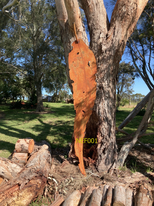 Weathering Steel Gum Leaf (2120mm) by Fiona Nelson - NEF.001