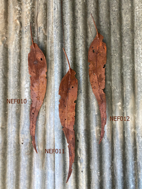 Weathering Waxed Steel Gum Leaf (680mm) by Fiona Nelson - NEF.011