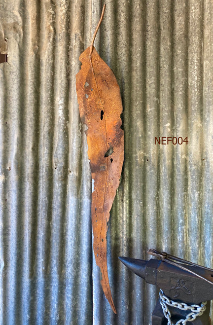 Weathering Steel Gum Leaf (1370mm) by Fiona Nelson - NEF.004