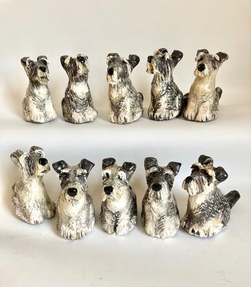 Whistling Dog Schnauzer by Janet Selby - SEJ.071 - SEJ.080