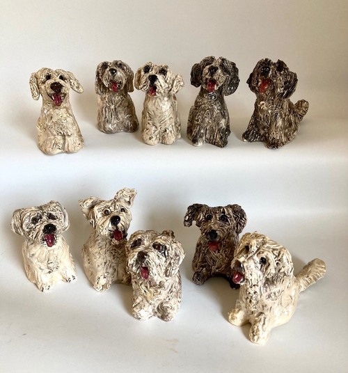 Whistling Dog Groodle by Janet Selby - SEJ.021 - SEJ.030