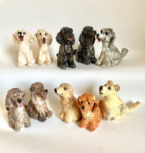 Whistling Dog Poodle by Janet Selby - SEJ.061 - SEJ.070