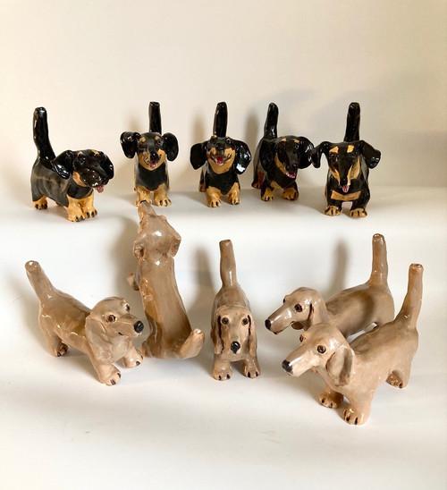 Whistling Dog Daschund by Janet Selby - SEJ.011 - SEJ.020