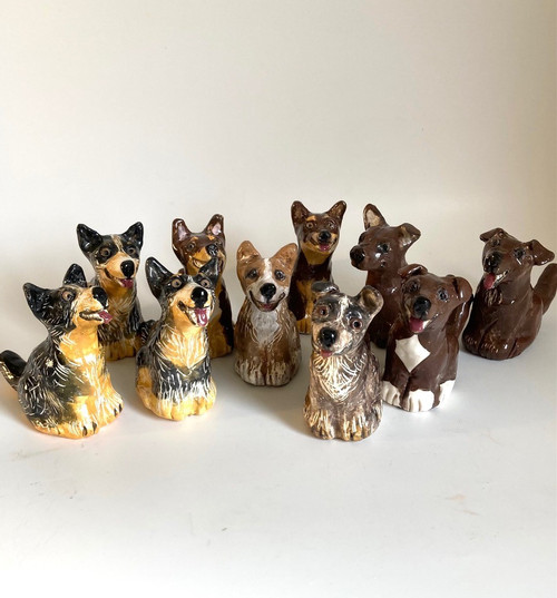 Whistling Dog Cattle Dog by Janet Selby - SEJ.001 - SEJ.007