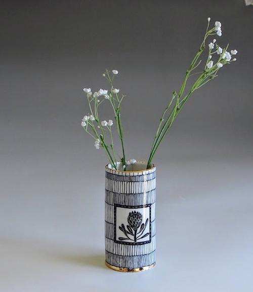 Medium Porcelain Vase Flower by Helen Shin - SHH.002