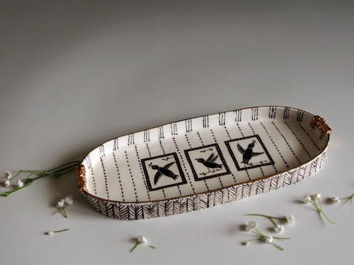 Oval Plate Birds by Helen Shin - SHH.013