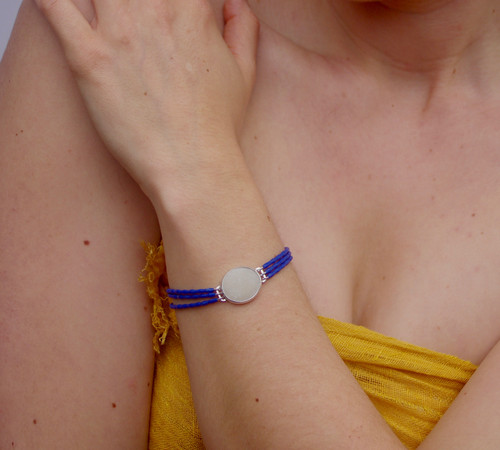 Lapis Lazuli and River Pebble Bracelet by Tracy Hopkirk - HOT.013