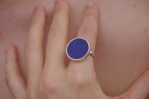 Lapis Lazuli Ring Large by Tracy Hopkirk - HOT.002