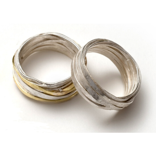 .8mm Silver and Gold Wrap Ring