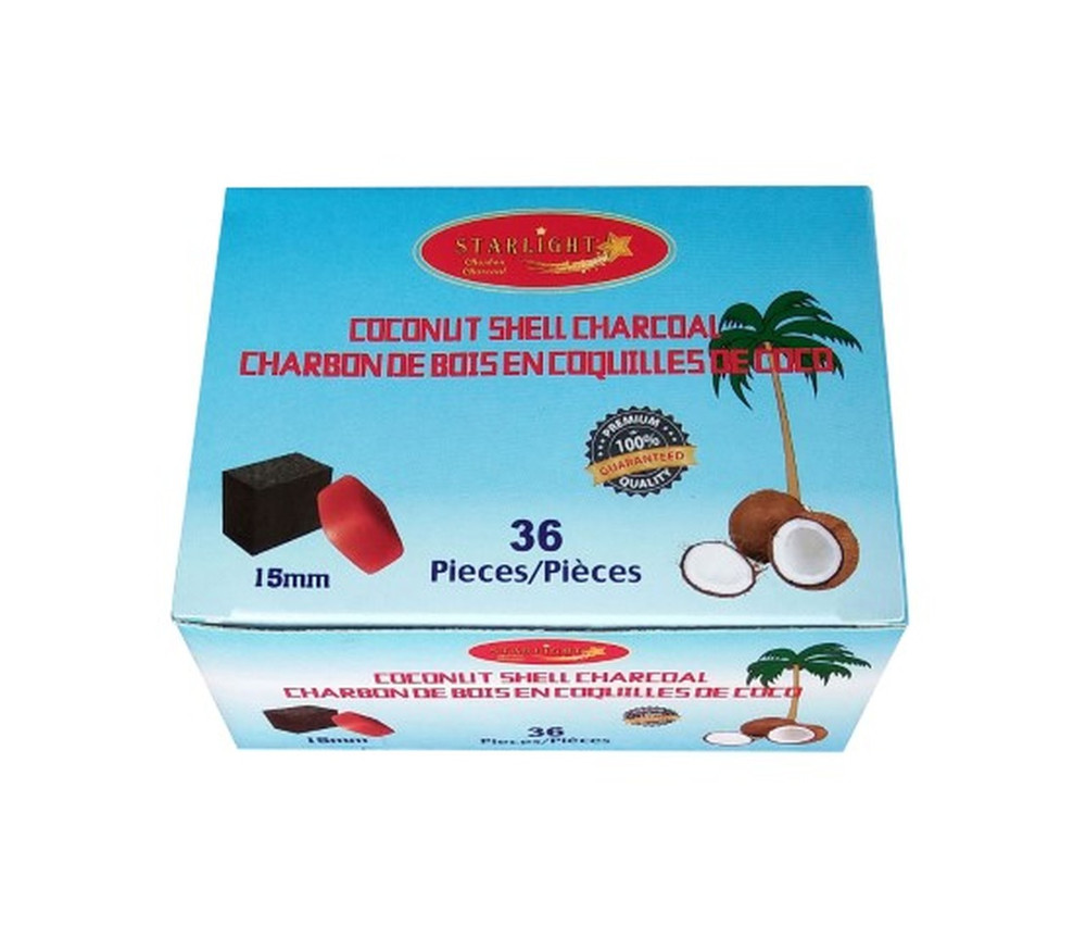 Starlight Coconut Shell Charcoal Cubes 36 Pieces