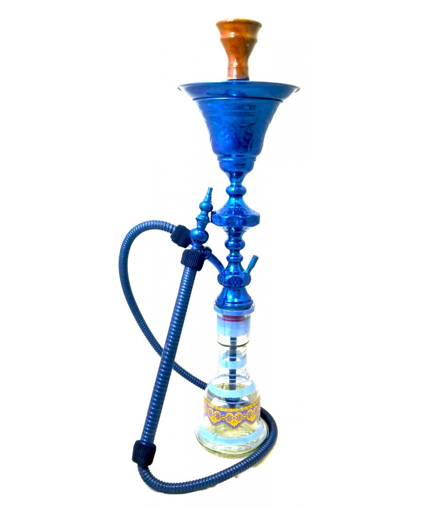 "Sultana Hookah - 1001 Nights Single Ice - Blue (32"")"
