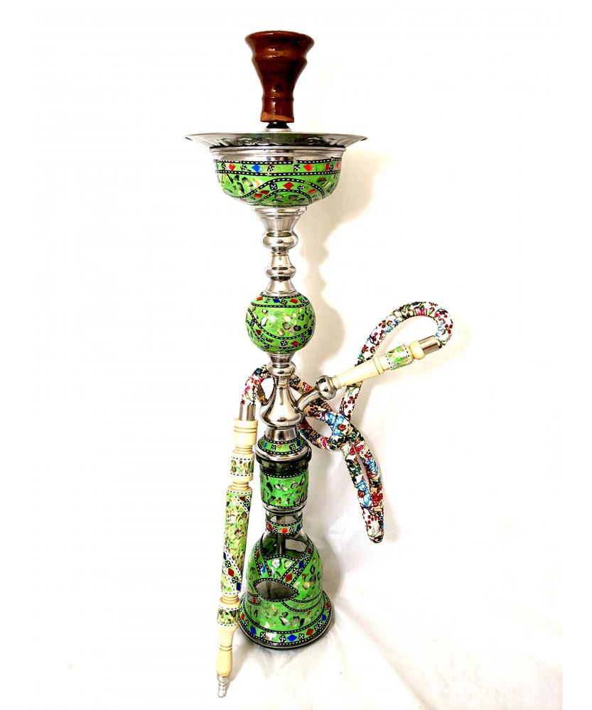 "Sultana Hookah - Sadaf Single Orb w/Ice - Green (32"")"