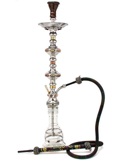 Khalil Mamoon 1001 Nights Double Decker shisha smoking pipe hookah