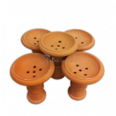 Natural Wide Clay Hookah Bowl