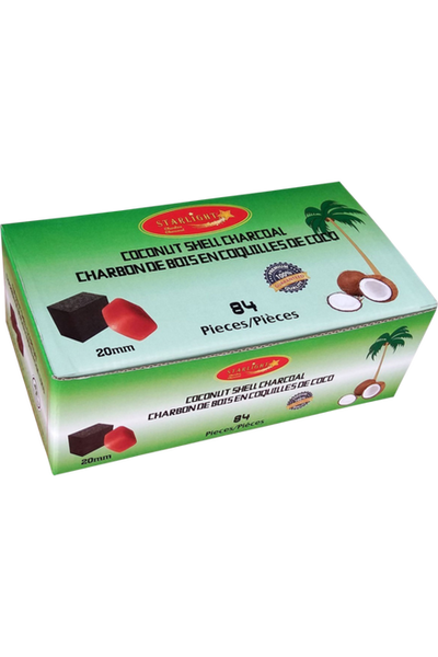 Starlight Coconut Shell Cubes - 84 pcs