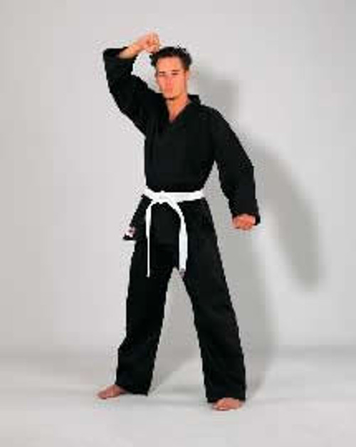 Black SEITO Lightweight 7.5oz Karate Uniform