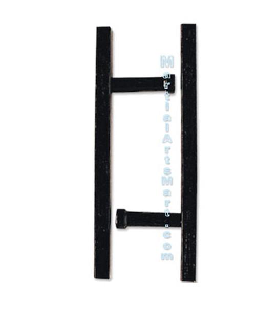 Black Lacquer Okinawan Rectangular Tonfa