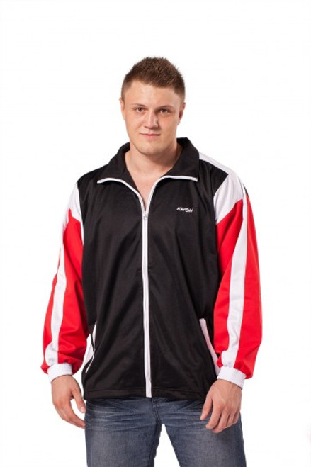 Team Jacket with no hood black/red/white