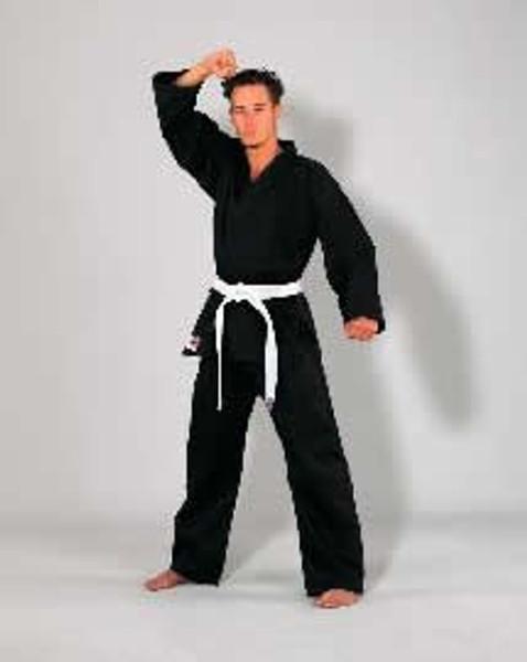 Black SEITO Lightweight 7.5oz Karate Uniform