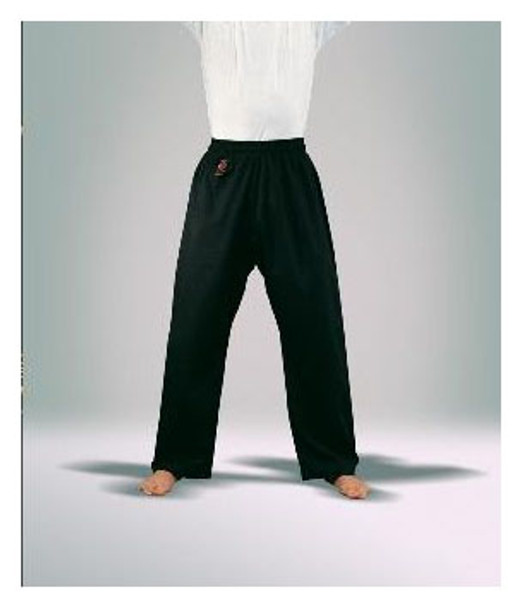 BLACK COTTON Karate Gi Pants 8oz