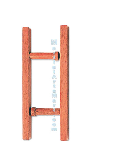Natural Finish Rectangular Hardwood Tonfa