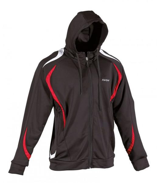 Team warm up hoodie black/red/white