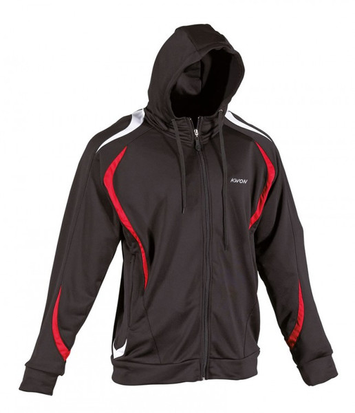 Team warm up hoodie black/red/white