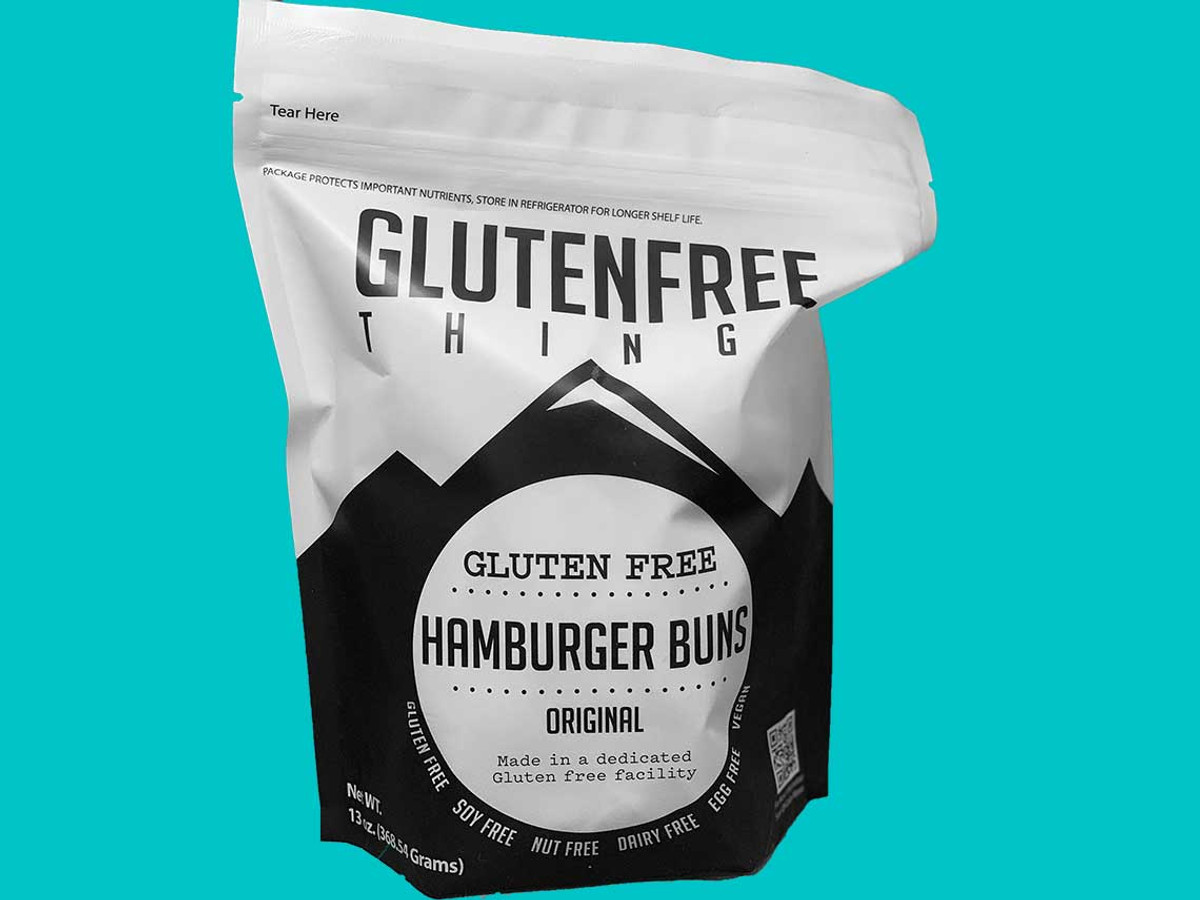 Gluten Free Things brand Gluten Free Vegan Hamburger Buns are sold 4 per package and offer a high popular, tasty alternative bread product for use in wide variety of favorites including the All American Hamburger, Pulled Pork BBQ, Veggies Burgers and even Sloppy Joes.  This product is sold through Sysco Colorado.