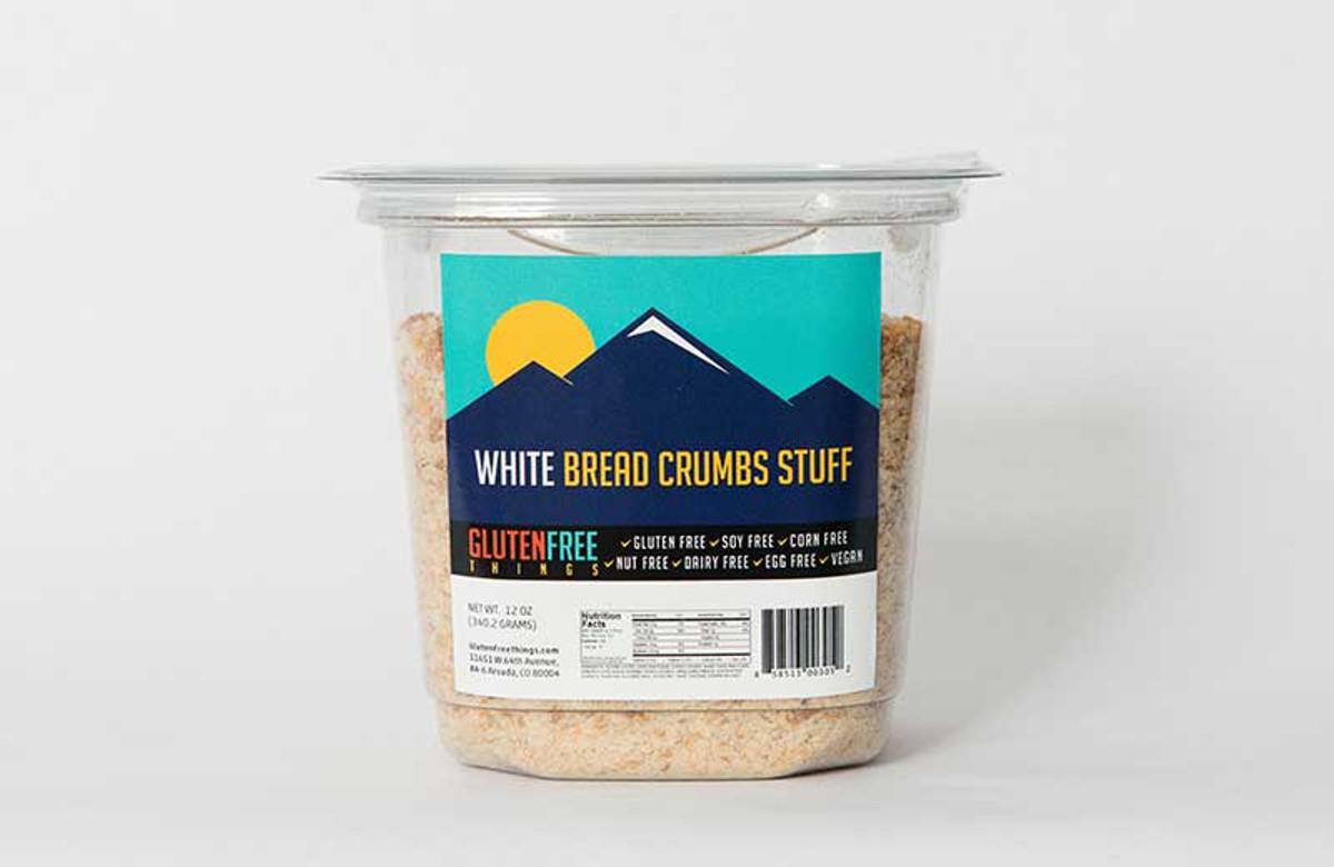 Gluten-free vegan bread crumbs