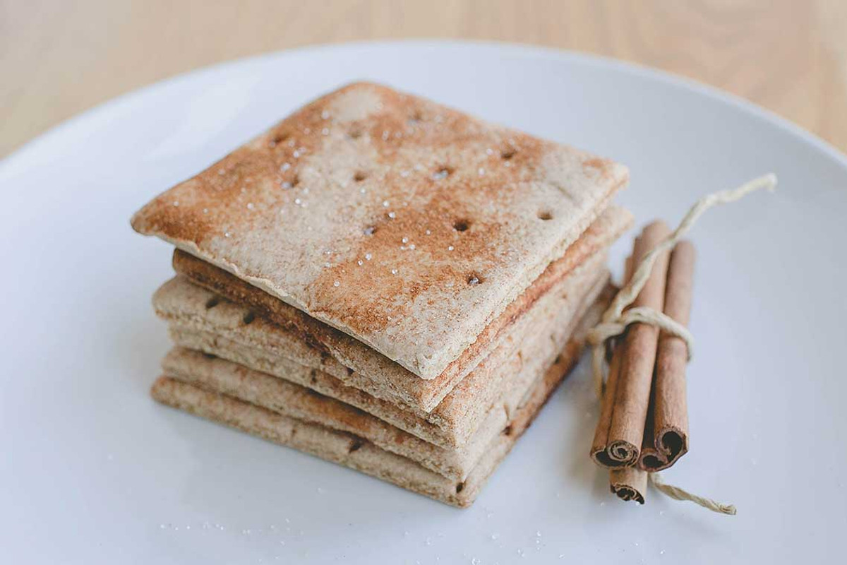 Cinnamon Sugar Graham Crackers.  A hit with kids of all ages.  Made in a dedicated gluten free bakery.