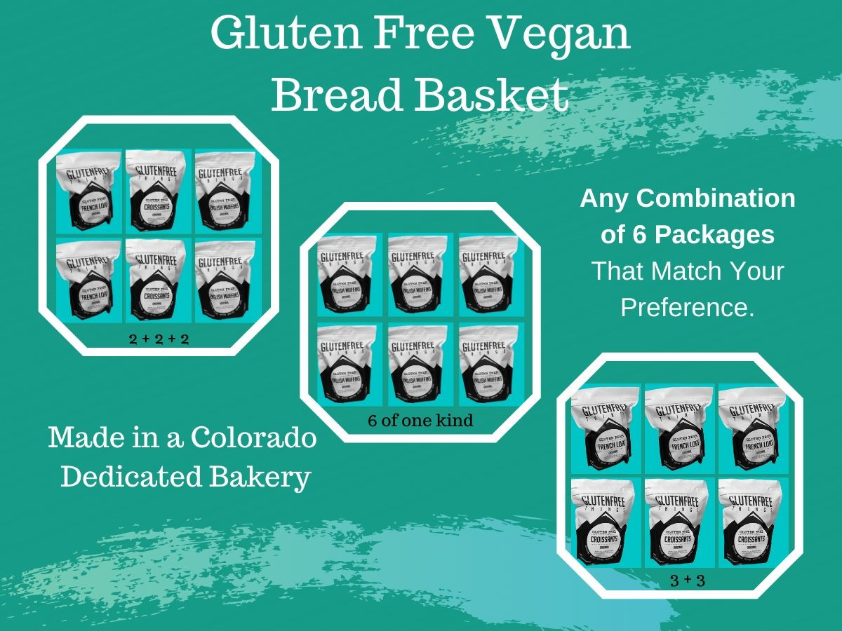 Choose from 6 full size packages of Gluten Free Things premium brand gluten-free vegan breads.   Now you can purchase any combination of your favorite gluten-free vegan bread.    When you purchase our Bread Basket or Emergency Survival Kit you're SAVING BIG at just $4.00 per package.  WOW!