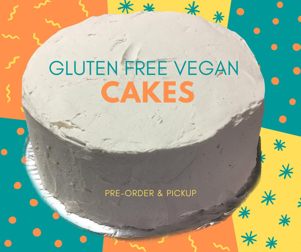 Gluten Free Vegan Cake  - 2 layer Vanilla Cake or Red Velvet Cake with Vanilla or Chocolate Icing