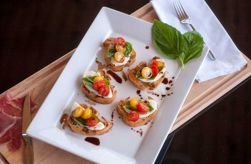 Crisp Gluten Free Vegan crostini's make great appetizers.