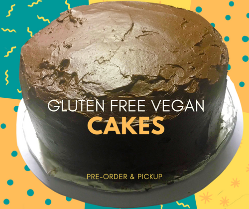 Gluten Free Vegan Cake  - 2 layer Chocolate Cake with Vanilla or Chocolate Icing
