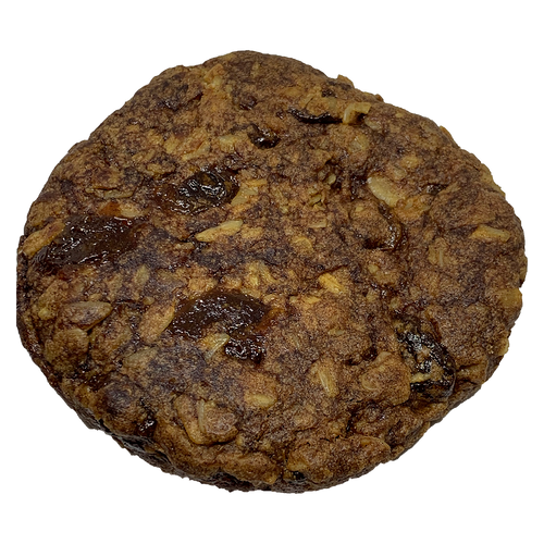 Gluten Free Vegan Oatmeal Raisin Cookie Thing. Our Cookie Things are gluten free, vegan, dairy free, egg free, soy free, nut free, corn free.  No preservatives used in any of our recipes.    Made in a Colorado Dedicated Bakery.